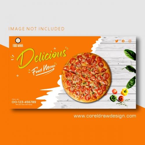 Modern Pizza Banner Template Premium Vector