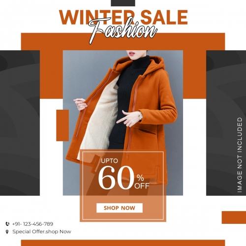 Winter Fashion Sale Instagram Post Template Premium Vector