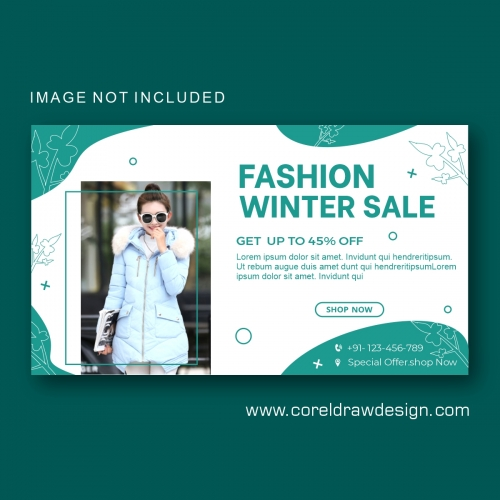 Winter Sale Collection Banner Template Design