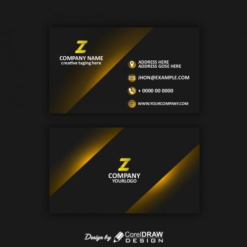 black modern business card template Free Vector