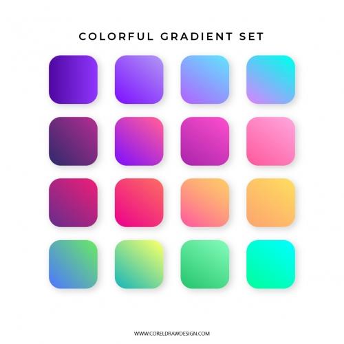 Trendy Colorful Gradient Set