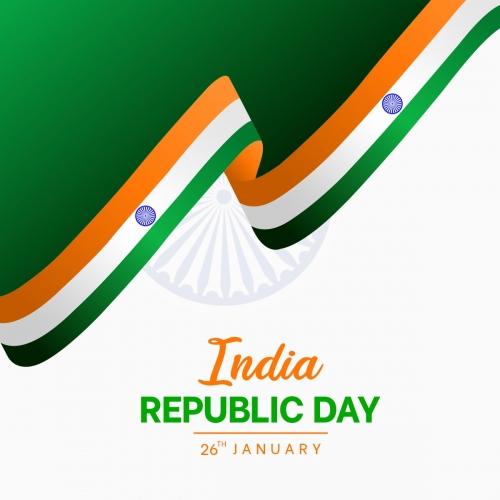 Happy Indian Republic Day Creative Flag Design Free Vector