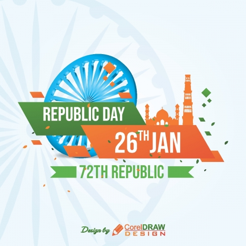 Republic day creative 26th jan 2021 trending cdr file download