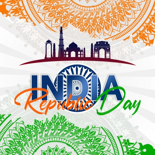 Grungy Indian Flag Design For Republic Day Free Vector