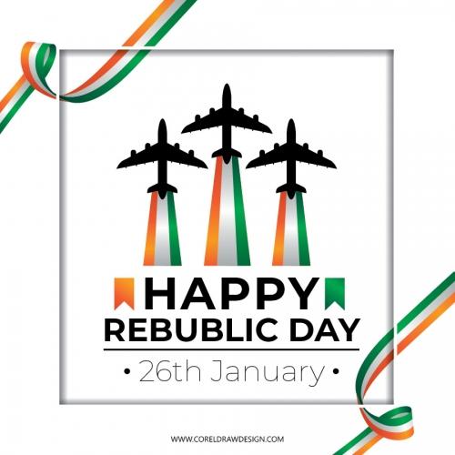 Papercut Republic Day Lettering Card