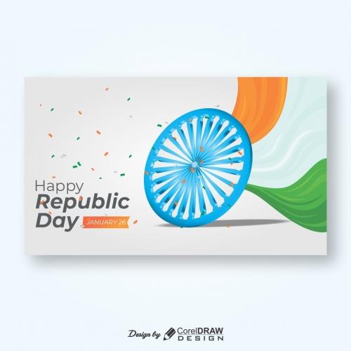 Republic day Tricolor Ashok Chakra trending cdr file download