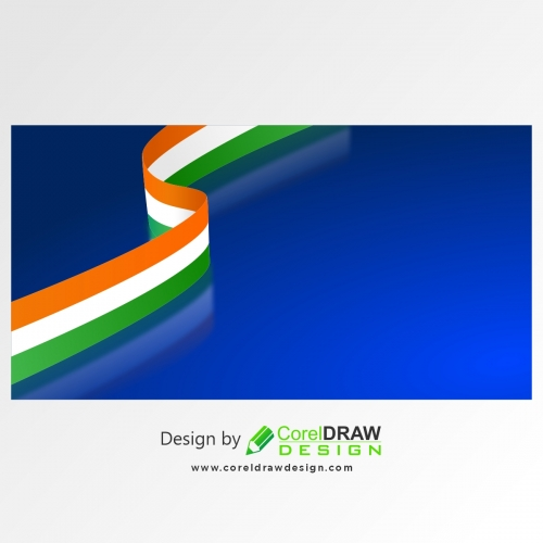 Tricolor Strip Glassy Background, Free Vector