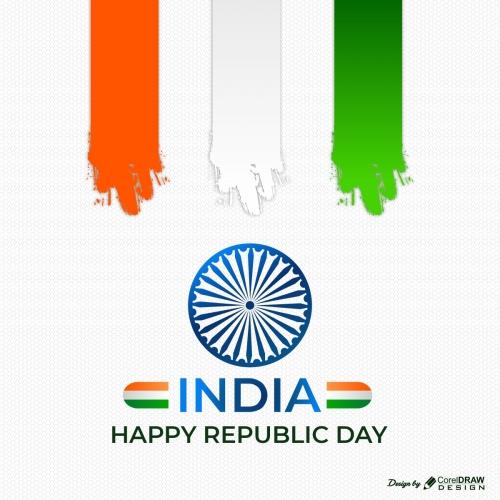 India Happy Republic Background Indian Flag Premium Vector