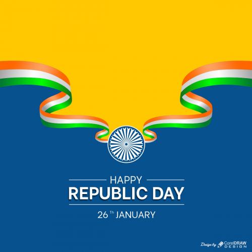 Happy India Republic Day Celebrations Premium Vector