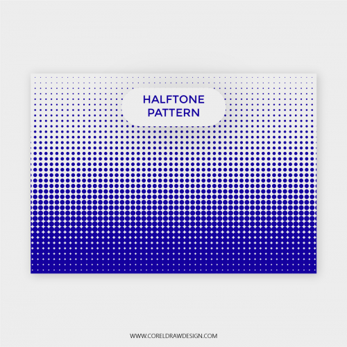 Abstract Blue Halfone Pattern