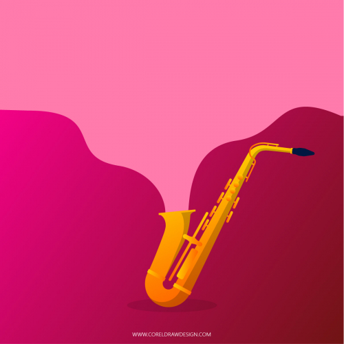 Colorful Saxophone Background