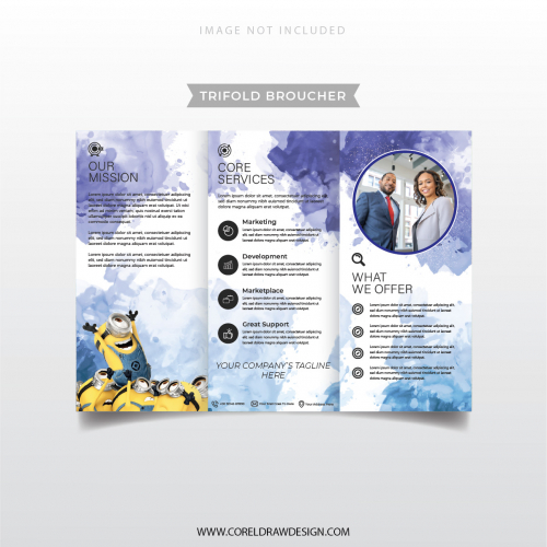 Professional Corporate Company Trifold Broucher Template