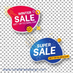 Colorful Abstract Sale Banners Free Vector