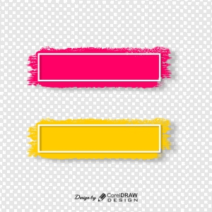 Grunge Colorful Distressed Textured Badges Vector Set Free Vector