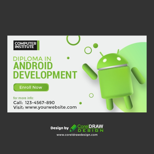 Institutional Banner for Android Development , free Vector, CDR