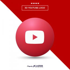 Modern Youtube 3D Logo
