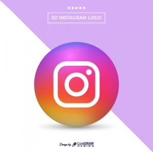 Modern 3d Instagram Logo