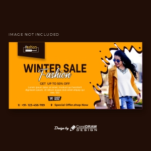 Banner Template With Winter Sales Free Vector