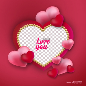 Valentine's Day Background Realistic Style Free Vector