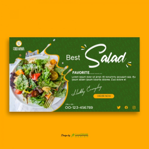 Bio And Healthy Food Banner Free Vector Design
