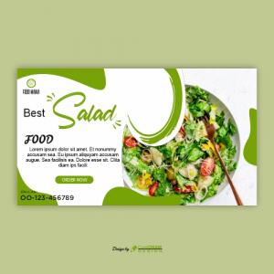 Fresh Healthy Food Social Media Banner Template Premium Design