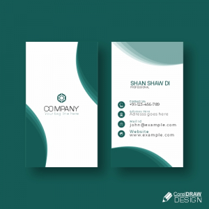 Colorful Business Card Mock Up Free Vector Design