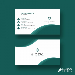 Colorful Business Card Mock Up Free Vector