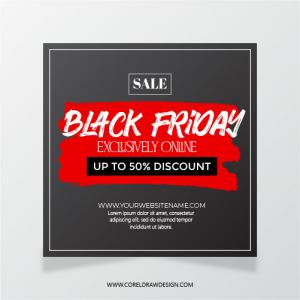 Black Friday Sale Online Social Media Template