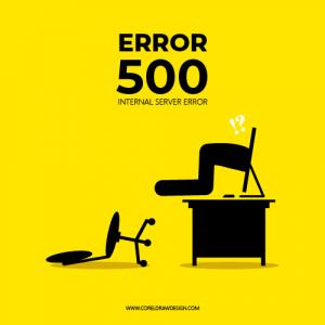 Error 500 Vector Creative