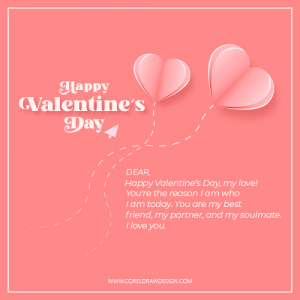 Happy Valentines Day Wishes Card