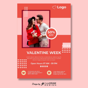 Valentine Week Club Open Hours Invitation Trending 2021 CDR File Download Free