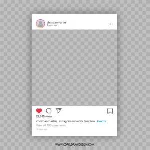 Instagram UI Vector Template