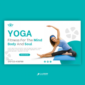 Yoga Class Template Banner Free Vector Design