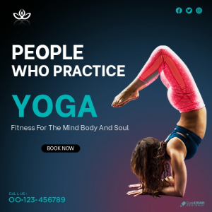 Yoga Social Media Post Template Premium Vector