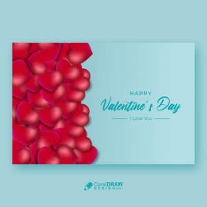 Valentines Day Hearts Frame & Banner Design