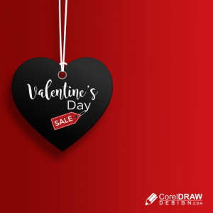 Valentine Day Sale Heart Shape Tag Banner, Background, Free Vector