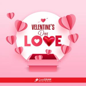 Valentine Day Love Pretty Background, Free Vector
