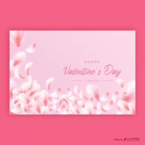 Valentine's Day Rose Flowers Petals Background Free Premium Vector
