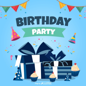 Birthday Party Wishing Trending 2021 CDR File Free Download
