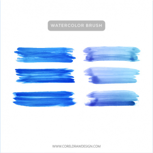Sky Watercolor Brushes Vector