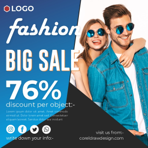 New Fashion Big Sale 76 Discount Limited Offer Trending 2021 Design Download Coreldraw Free Template