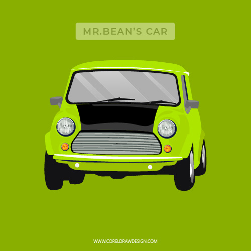 Mini Cooper Mr.Bean Car Vector