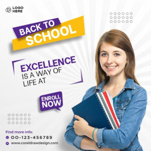 Back To School Banner Template Free Vactor