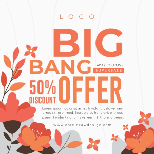 Big Bang Discount Offer 50 percent off Trending 2021 Download Cdr Template Free