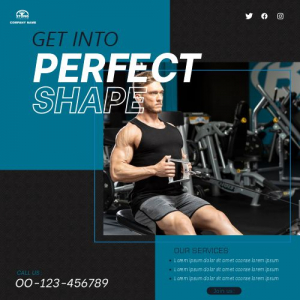 Fitness Trainer Template Banner Free Vector