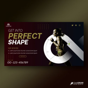 Shape Your Body Poster Template Free Vector
