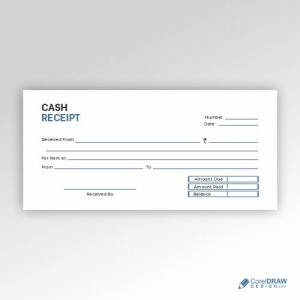 Cash Payment Receipt Template Design