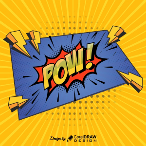 Comic Pow Punch Creative 2021 Trending Corel Draw 2021 Template Download Free