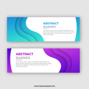 Elegent Simple Abstract Banner Background
