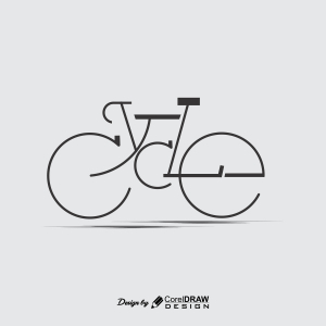 Bicycle Minimalist Logo Icon PNG CDR EPS Full Vector Trending 2021 CDR File Download Free Template